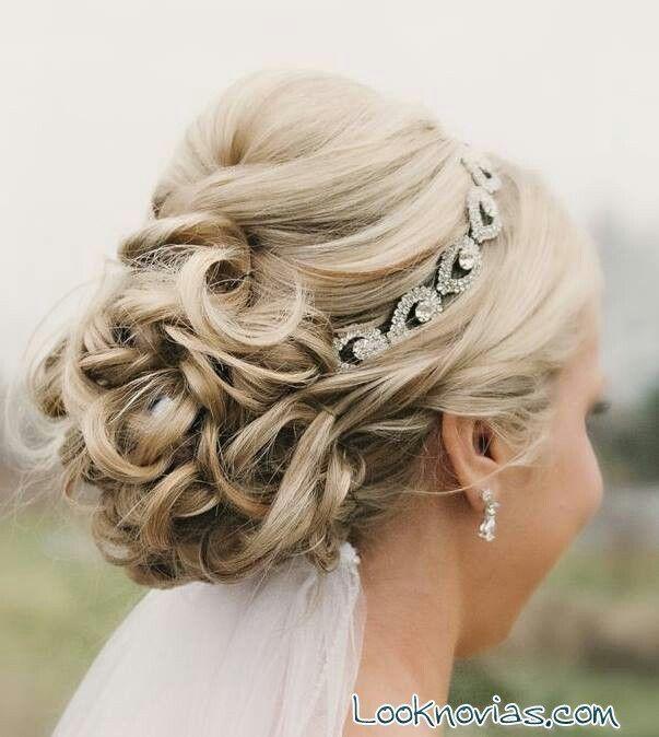 peinados de novia con velo y pelo recogido - Google Search