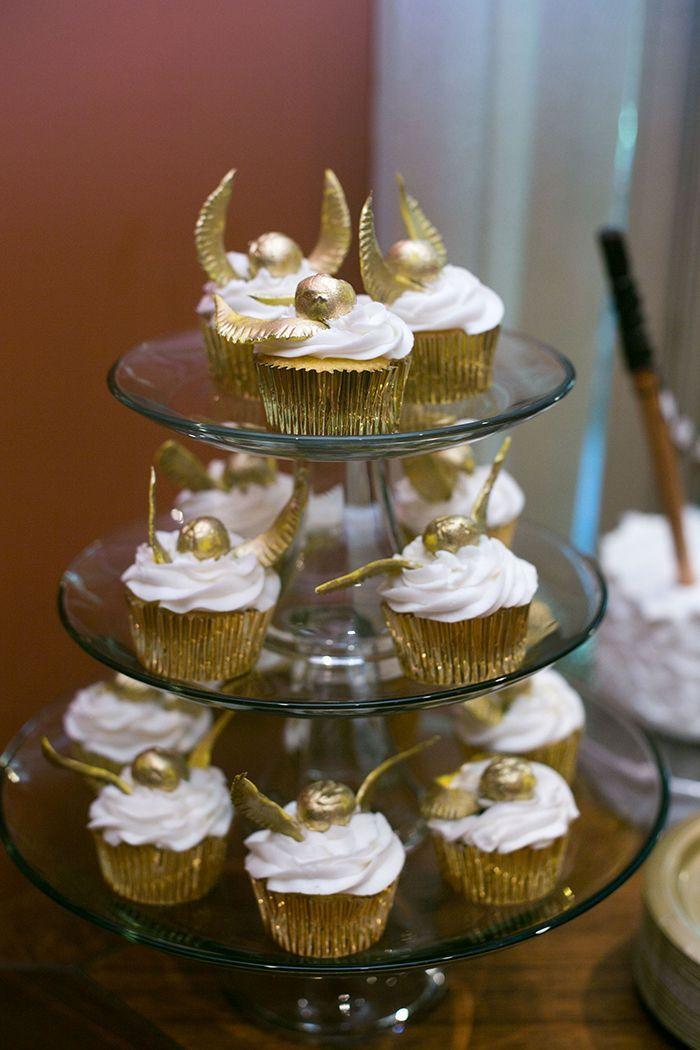 Golden Snitch Cake Pops Wedding Cake