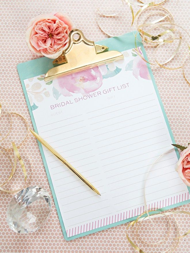 free printable bridal shower games and activities%0A Isn u    t this FREE printable bridal shower gift list just adorable
