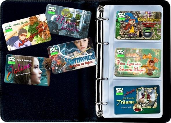 Happy KIDDY Verlosung   Gewinne eine bookshouse @sammler-Edition im Wert von 31,40 EUR, bestehend aus:    1 Herlitz Sammelmappe, schwarz, mit 4-Ring und 5 Klarsichthüllen für je 3 Karten.  7 E-Cards mit coverähnlichem Front- und Rückseitendruck für unsere bislang erschienenen 7 Kinder- und Jugendbuchtitel   Die E-Card ist von Größe und Material identisch mit dem E-Stick, enthält jedoch keinen USB-Speicher.   1 E-Stick, Scheckkartenformat, USB 4 GB - als Sammelstick mit Sonderdruck…