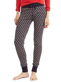 Womens Pyjama Bottoms | Gap - Soft cotton print leggings snowflake