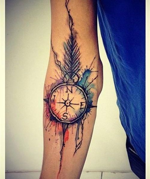 Pretty Watercolor Sleeve Tattoos For Girls