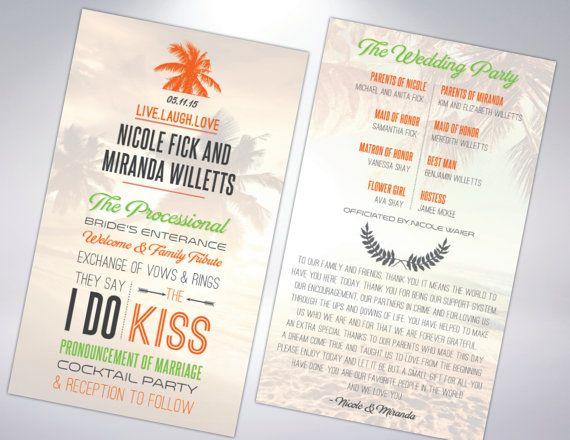 Best Wedding Programs Images On   Wedding Programs