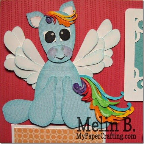 Cricut paper piecing Pretty Pony made with the Art Philosophy cartridge. http://www.mypapercrafting.com/2014/05/pretty-pony-cricut-art-philosophy-piecings.html