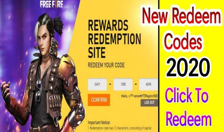 Free Fire Latest Redeem Codes 100% Working. in 2020 ...