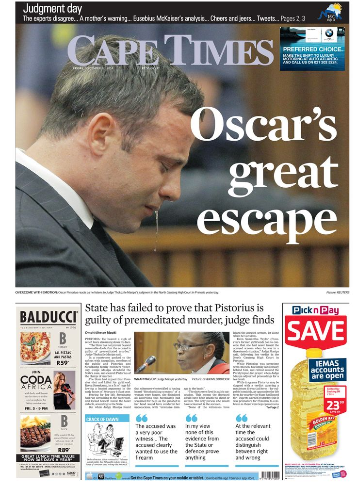 News making headlines: Oscar's great escape