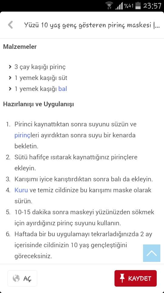 Pirinc Maskesi