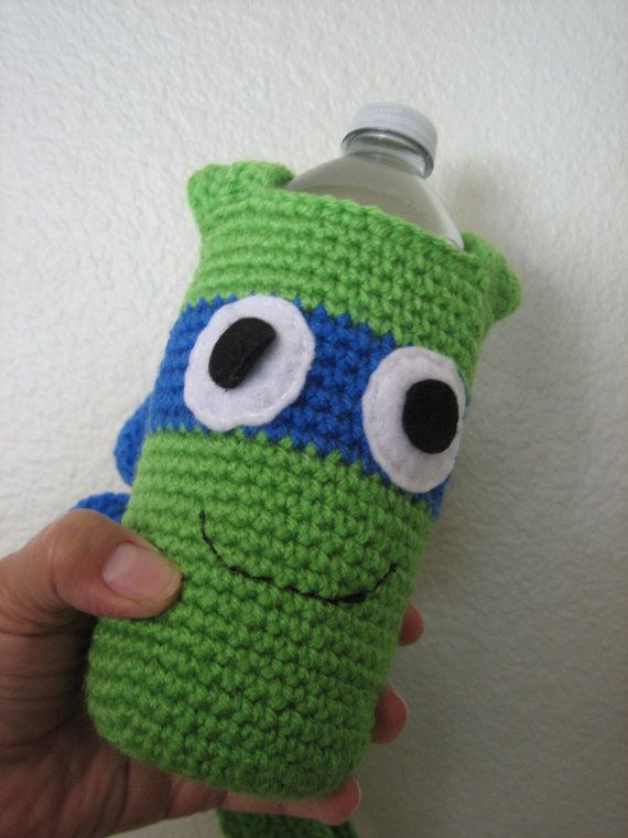 175 best crochet water bottles images on pinterest water bottle crochet knit teenage mutant ninja turtles water bottle holder tmnt for travel back to school christmas gifts ccuart Image collections