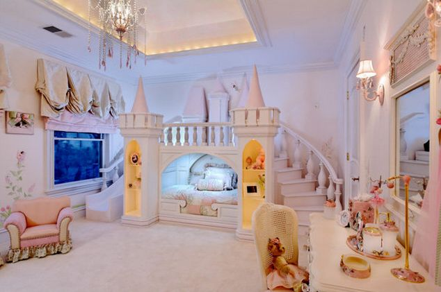 Princess Girls Room- @Courtney Baker Baker Baker Baker Lough Raina said she needs this and someone will come to build it for her...know anyone up to that challenge! lol!