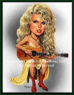 country music caricatures   taylor swift caricature taylor swift cartoon caricature limited ...