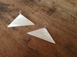 Triangle Earrings - SALE $15 - Horn & Bone Collection - All natural materials. Handmade in Haiti. Support job creation in Haiti! Shop @ elishac.com