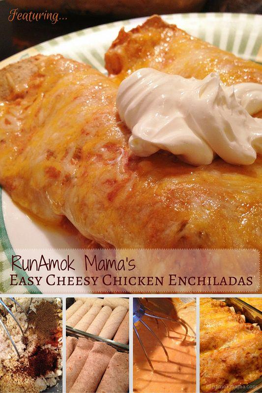 "RunAmok Mama's Easy Cheesy Chicken Enchiladas!  ""S"" for Trim Healthy Mama"