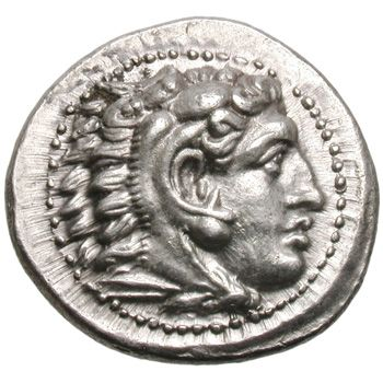 Macedonian tetradrachm The earliest coins found in Azerbaijan date from the period of Macedonian rule under Alexander III, also known as Alexander the Great (356-323 B.C.E.). Alexander introduced the drachma, silver Greek currency, to Azerbaijan.