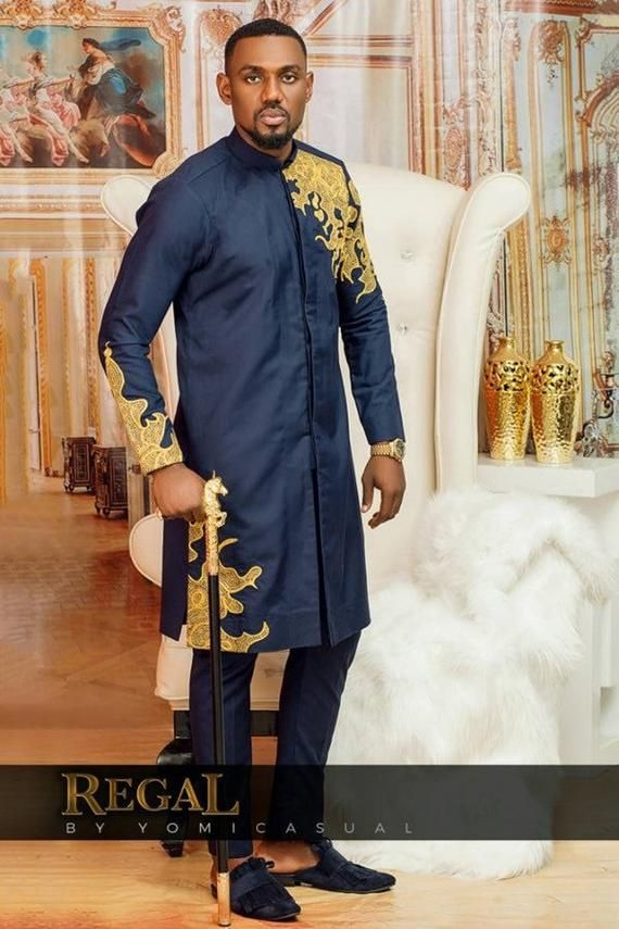 African clothing , African wear , African fashion , Grooms men attire , Men embriodery outfit