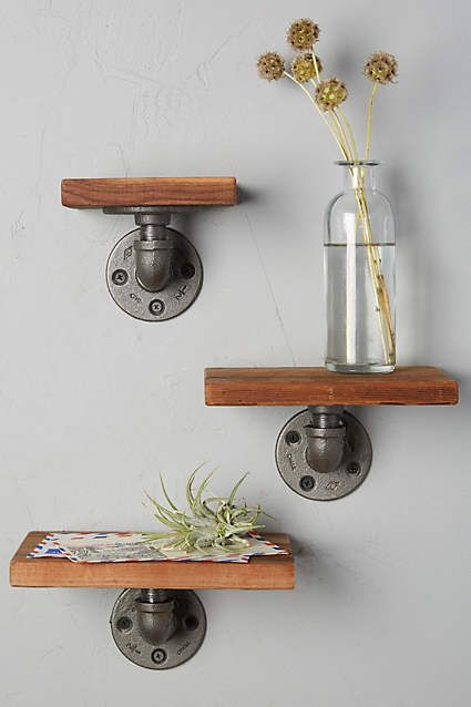 These would be so easy to make! Pipes and some wood! #shelves #repurpose #home #kasestyles
