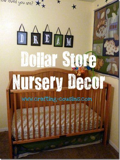Dollar Nursery Decor Crafty Cousins Pinterest And S