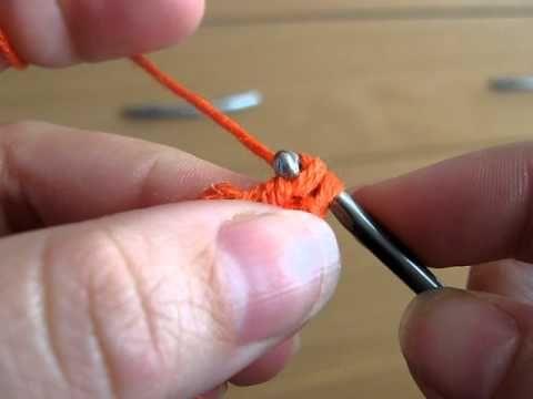 začátek háčkované čepičky