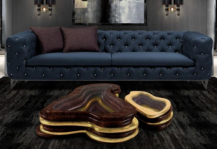 Coole-Couchtische-Holz-Glas-Chesterfield-Sofa
