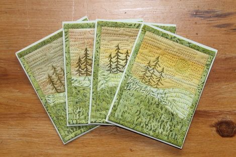 This link takes you to a large number of patterns you can download for less than five dollars if you need to make a bunch of cards.  Great idea!  http://www.onthetrailcreations.com/index.html