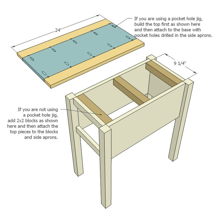 42 best images about small end tables on pinterest ana for Side table plans