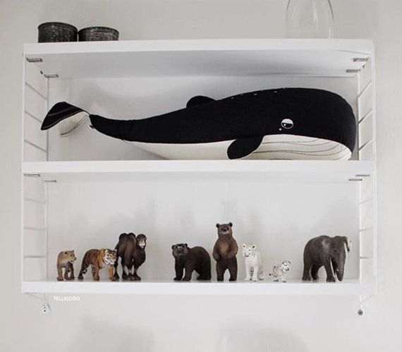 The Big Whale / Free shipping / Made to order by Talpathings