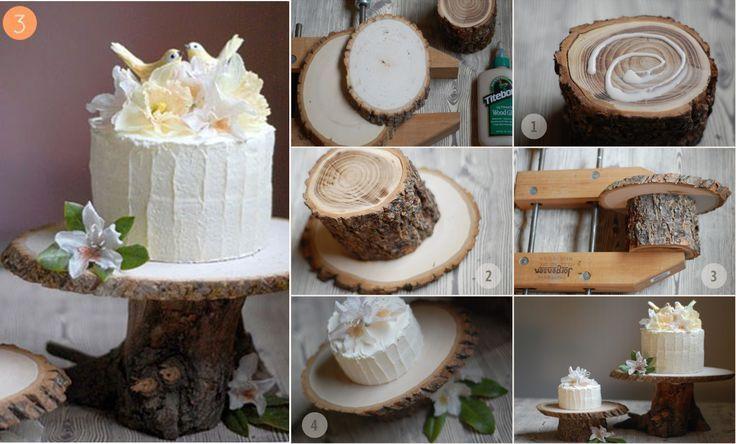 1000 id es sur le th me g teaux de mariage rustiques sur pinterest toppers - Bois pour decoration ...