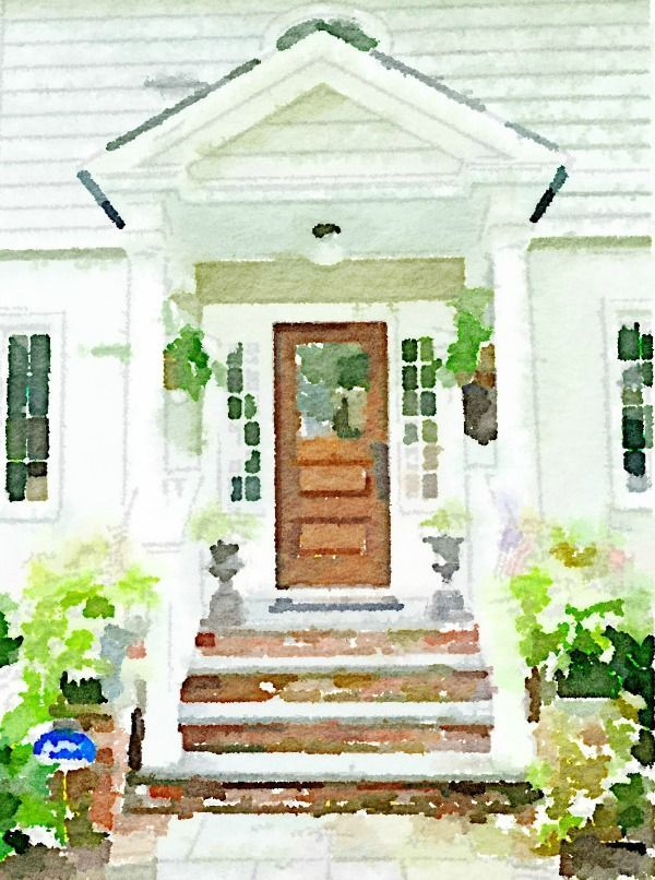 Use Photoshop to turn photo (of house maybe once we get better landscaping!) into watercolor