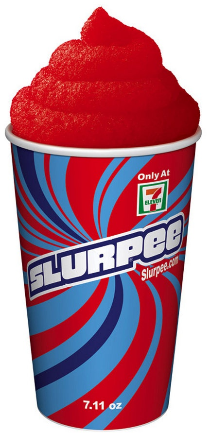 Slurpee!! Oh, how I miss these, both the cherry and the Coke ones!