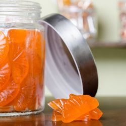 Orange Gummy Candies // Fuel your passion with more recipes at www.pregelrecipes.com