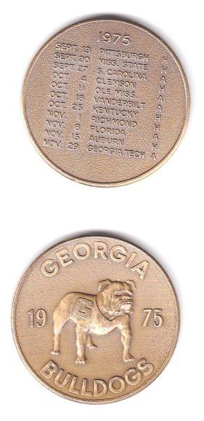 1975 UGA Schedule Coin