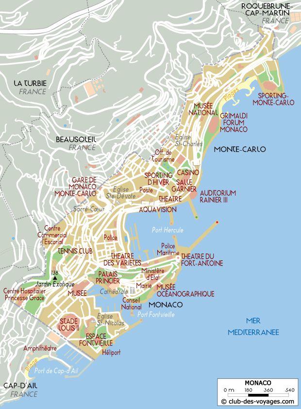 Carte De Monaco Carte Monaco Carte Geographique