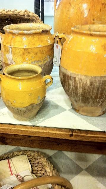 Confit pots. French