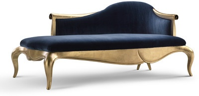 103 best images about decoration out of the box on for Black and gold chaise lounge