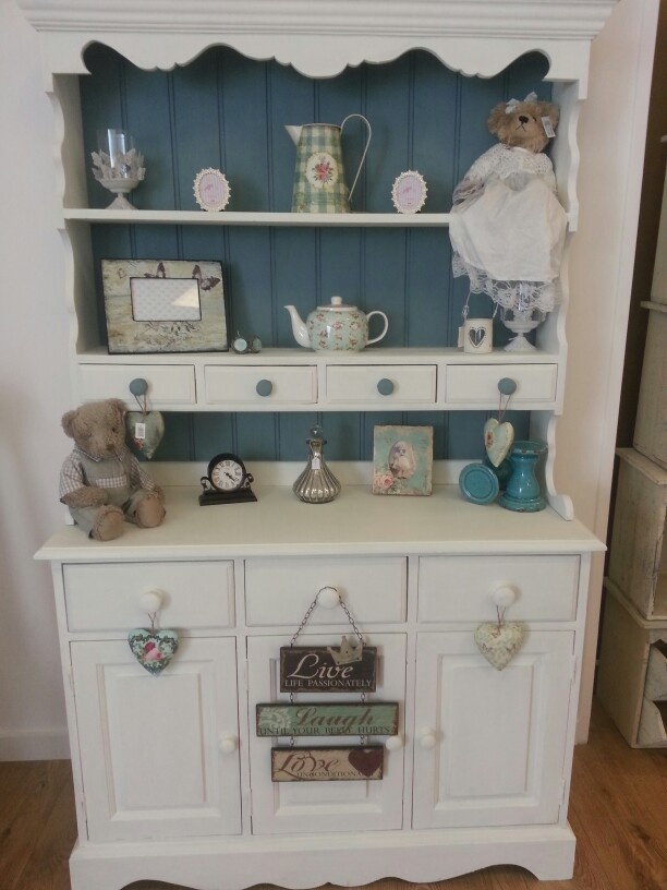 Pine dresser upcycled using autentico vintage (contains chalk) paint - huile de noix and nautique