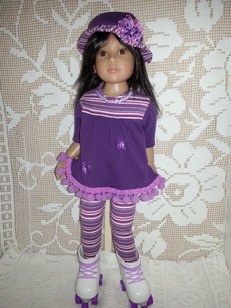 For Sale, Laura Kidz n Cats (re-wigged) in my purple stretch Mini Dress with gathering at yoke, pompom hemline and embroidered flowers. Lined Hat adorned with a Salstuff hand-made organza rose and stripy tights. Find Sally Channon on Facebook UK and also Salstuff on Ebay.