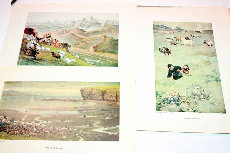 Set of 24 Chinese Contemporary Paintings, Prints Circa 1955, Oriental Wall Art, Asian Painting, Fine Art Set, Various Artists
