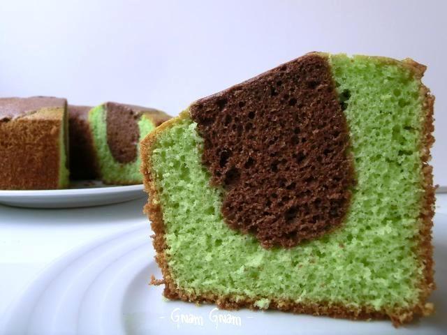 Chiffon cake menta e cioccolato | Ricetta