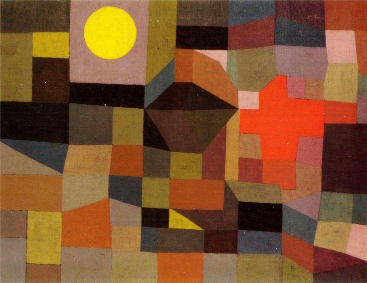Fire, Full Moon - Paul Klee - 1933 - oil on canvas - 65 x 50 cm - Museum Folkwang
