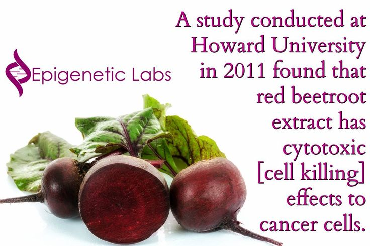 """A study conducted at Howard University in 2011 found that red beetroot extract has cytotoxic [cell killing] effects to cancer cells."" A fantastic anti-cancer food. It's time to incorporate beets in your diet if you haven't already. Please re-pin to support us on our mission to educate, expose, and eradicate cancer naturally! Together we are changing the world and saving lives everyday! Join us for much more great information on The Truth About Cancer! <3"