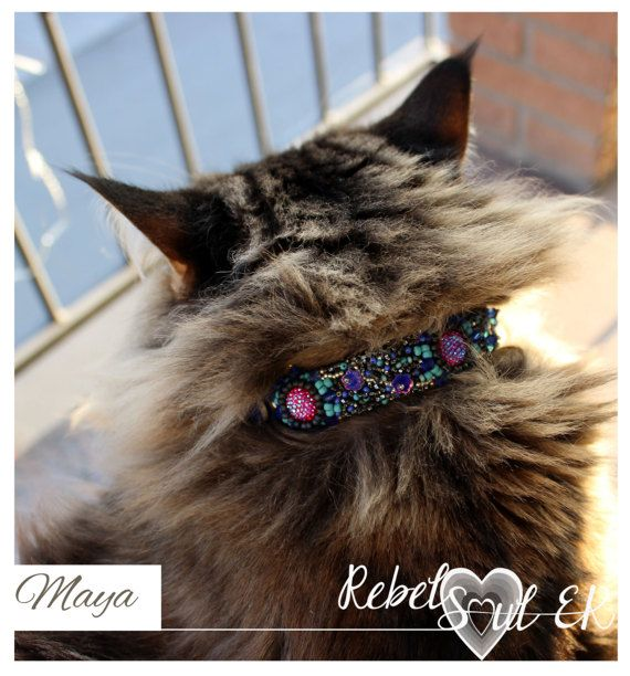 Cat collar Embroidery for Pets Dog Collar Pet by RebelSoulEK