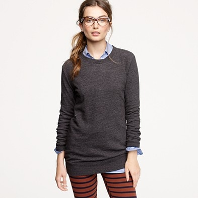 Just the sweater, ditch the leggings. And what's with every model on this site wearing fake glasses? jcrew.com
