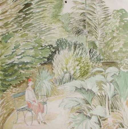 """""""Hampden Park"""" by Eric Ravilious, 1928"""