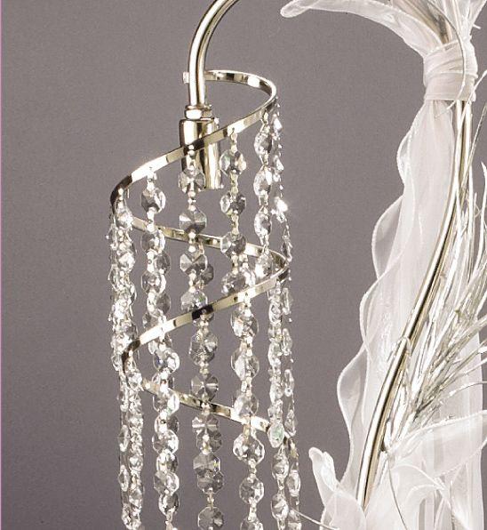 Alexia  Λαμπάδα γάμου Φωτιστικά 1155-2F Απόλυτα λαμπερό και ανθεκτικό, σε απίστευτα προνομιακή τιμή! Μεπροσεγμένη Inox επιμετάλλωση και διακριτική διακόσμηση από κρύσταλλα Βοημίας. ΧΡΩΜΑ: Inox Shiny