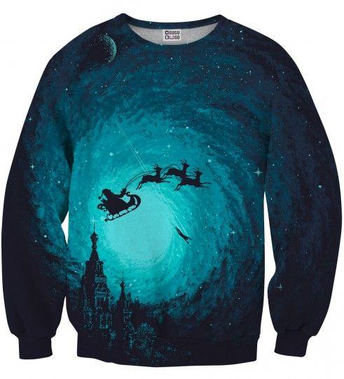 Bluza ze wzorem Flying Santa Miniatury 2