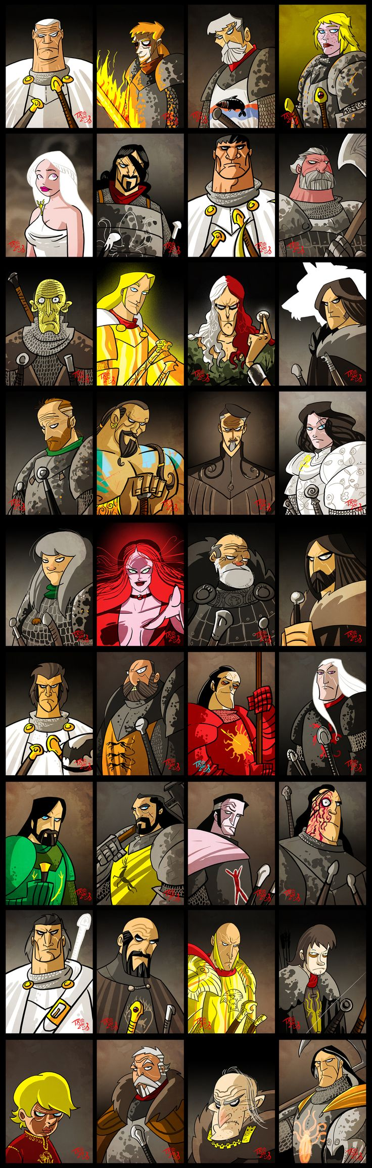 A Song of Ice & Fire / Game of Thrones Characters 1 ... can you name em all?