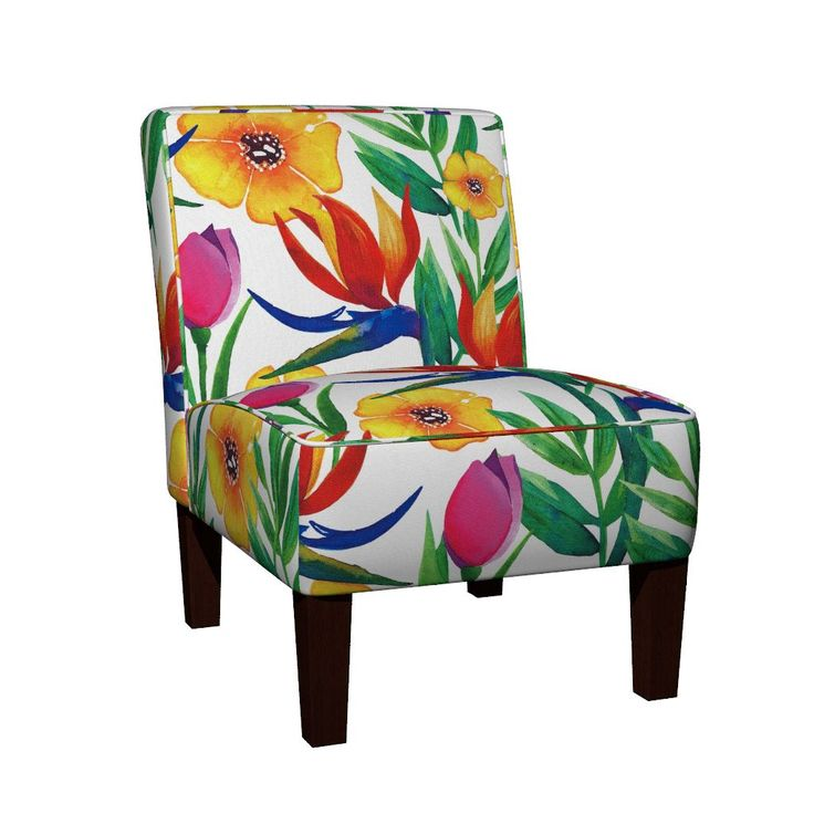 Maran Slipper Chair featuring Tropical Jungle (Medium) by jessmorris | Roostery Home Decor