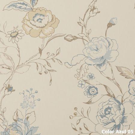 Papel pintado flores Clara