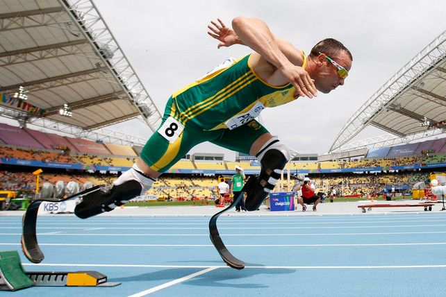 This young man is the picture of determination and inspiration. After having his legs amputated as a baby, Oscar Pistorius never gave up. Now, this year, he became the first amputee track athlete at the London Olympics. Amazing.