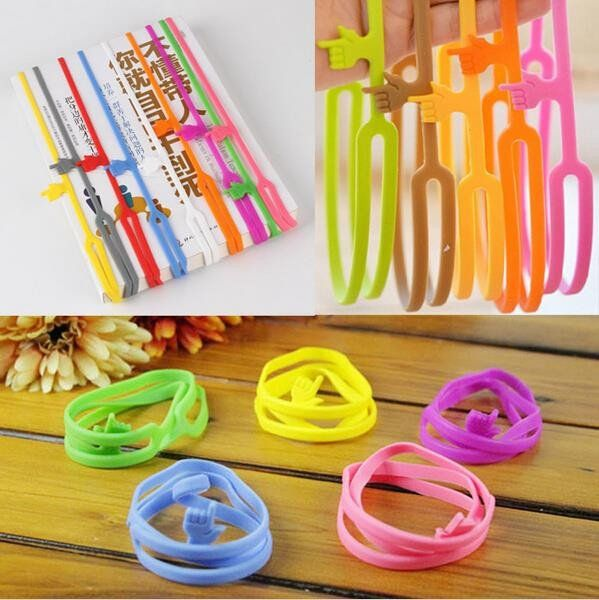 Cute Silicone Finger Pointing Bookmark