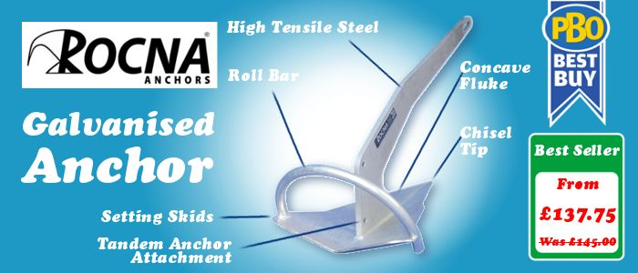 Rocna Galvanised Anchor - Best Seller - Now From £137.75